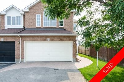 Barrhaven semi detached for sale:  3 bedroom  Hardwood Floors  (Listed 2015-07-07)